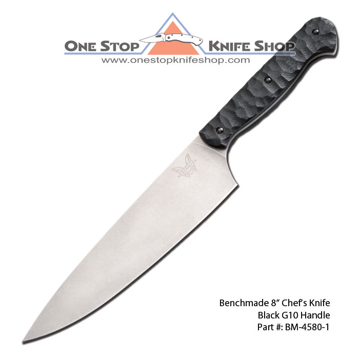 discontinued benchmade 4580 1 prestiedges 8 in chef knife black g10 handle. Black Bedroom Furniture Sets. Home Design Ideas