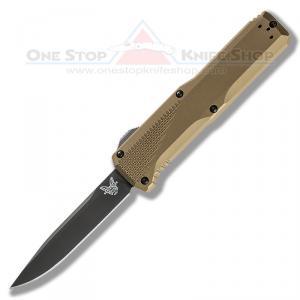 Benchmade 4600DLC-1 Phaeton - Black Blade, Tan Handle