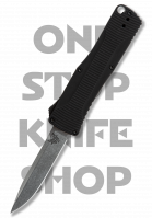 Benchmade 4850 Om Double Action OTF Automatic - Black Handle