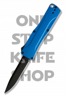 Benchmade 4850BK-1 Om Double Action OTF Automatic - Black Blade, Blue Handle