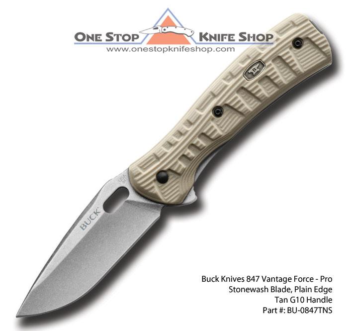 Buck Knives 0847tns Vantage Force Pro Desert Tan New