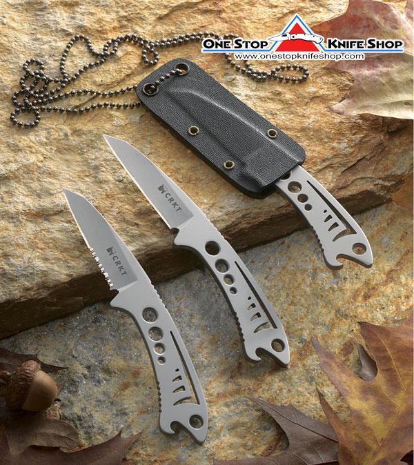 Discontinued Crkt 2370 Krein Dogfish Neck Knife Razor