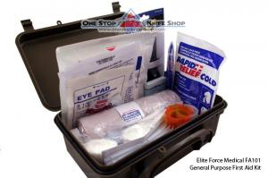 Elite Force Medical FA101 General Purpose First Aid Kit - Military