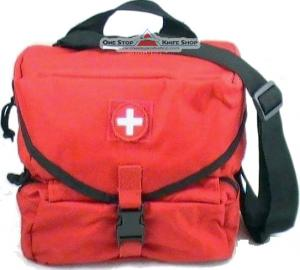 Elite Force Medical Fa108 Red M3 Medic Bag First Aid Kit Combat Lifesaver S