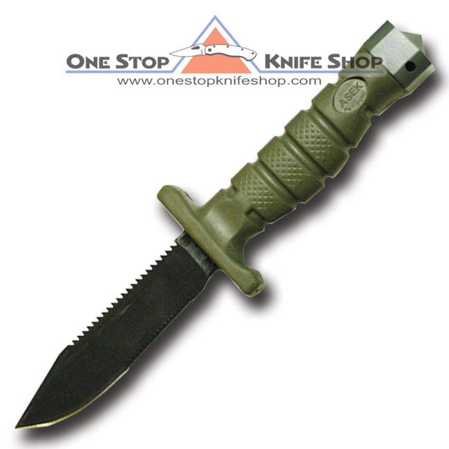 2009 Ontario Asek Survival Knife System Foliage Green