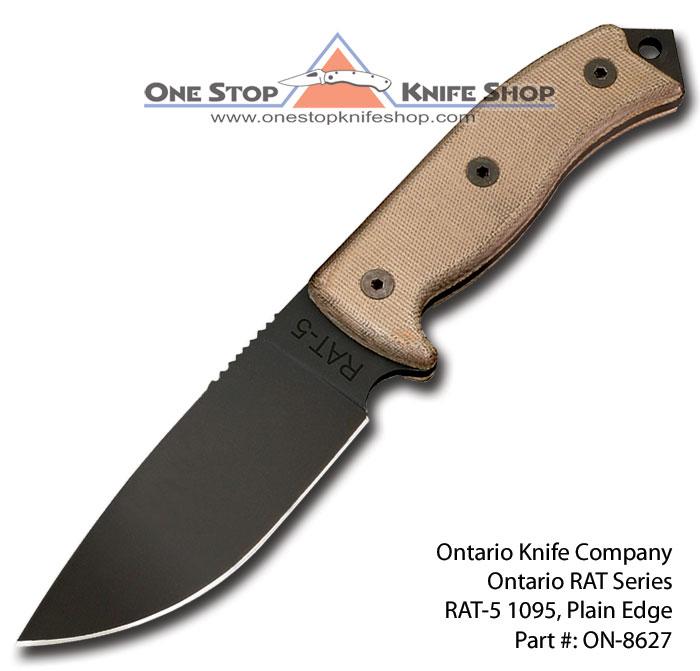 Ontario Knife Company Rat 5 Rat 5: 2009 Ontario RAT Knives RAT-5 1095