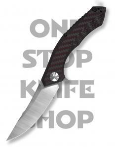 Zero Tolerance 0462 KVT - Stonewash Blade, Red Carbon Fiber Scale